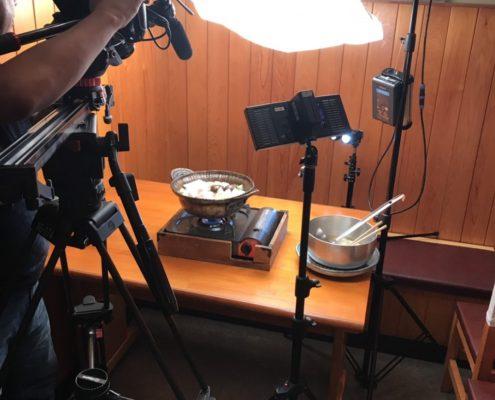 生活情報テレビ番組の撮影